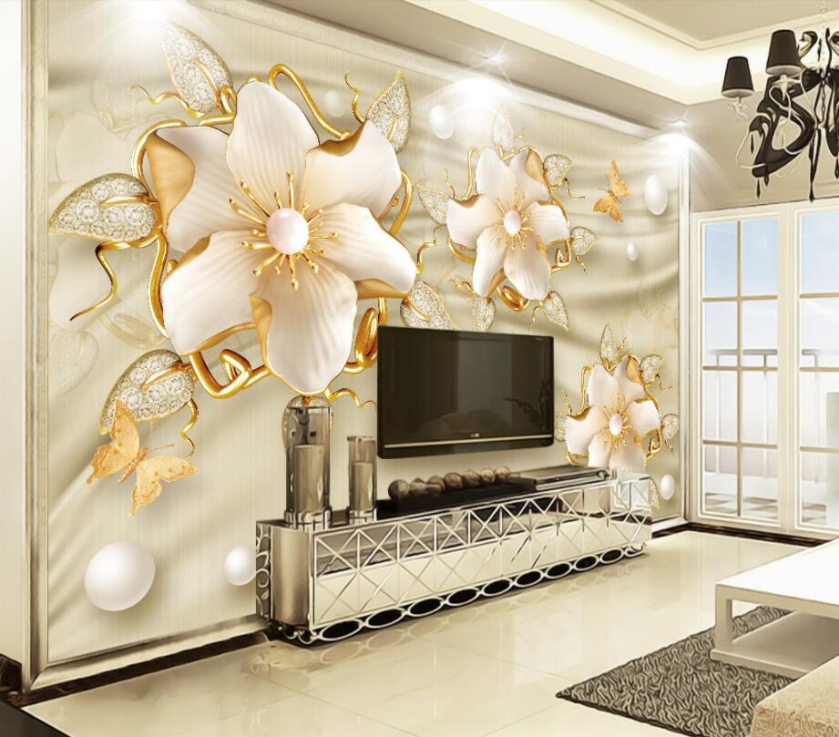 TV Ünitesi 3D duvar kağıtları